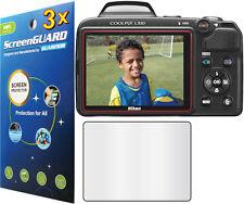 3x Clear LCD Screen Protector Guard Cover Film Camera Nikon COOLPIX L320 L330
