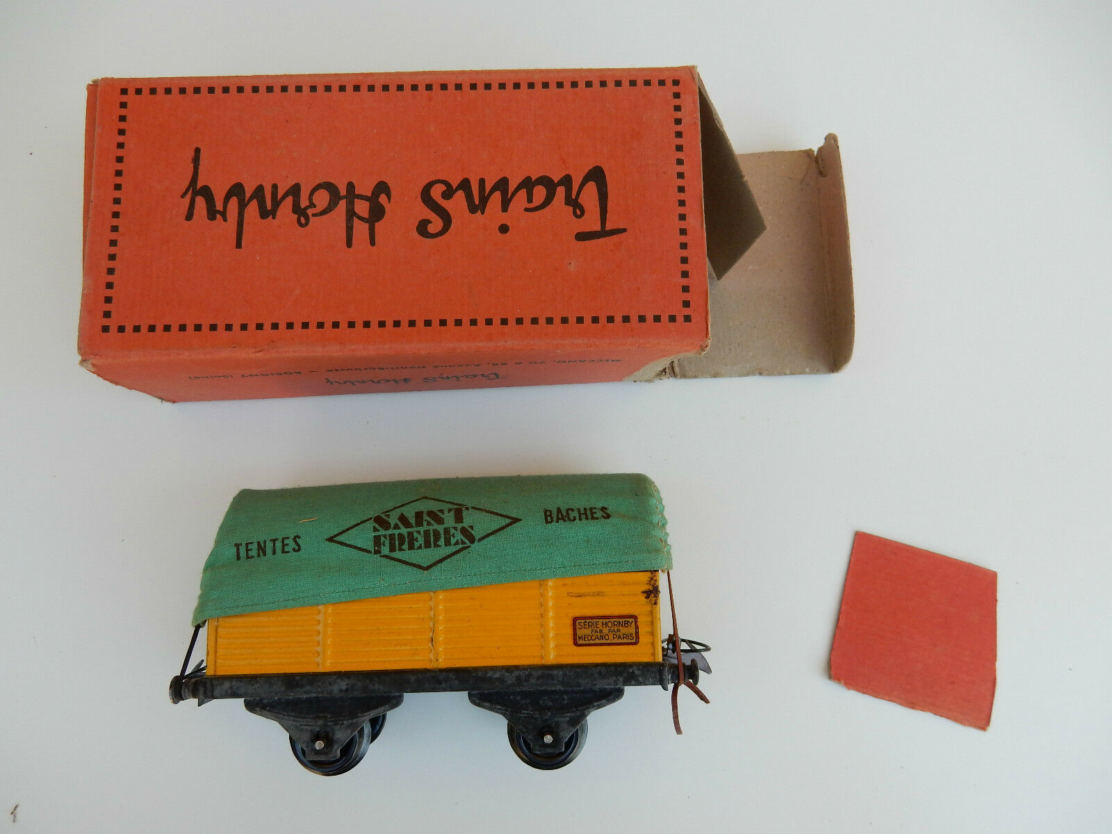 HORNBY BOXED GOODS WAGON   FRENCH ORIGIN  VERY NICE  SEE IMAGES