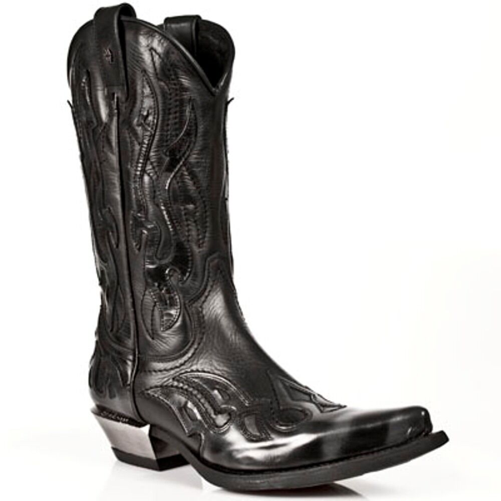 New Rock Boots Mens Style 7921 S3 Silver and Black