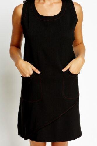 Coffee//Beige New Womens Pocket Shift Dress Black
