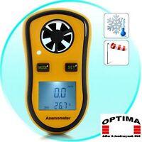 Windmesser Windmessgeräte Anemometer Thermometer Graph