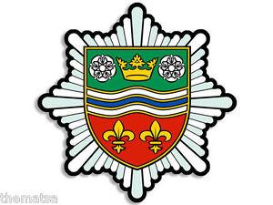 "4/"" WEST SUSSEX UK FIRE RESCUE HELMET BUMPER EMBLEM DECAL STICKER MADE IN USA"