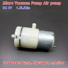 Dc 6v 15lmin Micro Vacuum Pump Monitor Breast Pump Mini Air Pump Dual Pump Diy