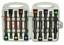 10pc Torque Extension Bar Socket 12 Dr Color Coded Impact Extension Set Cr Mo
