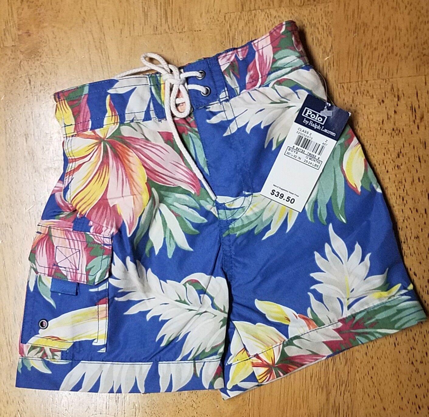 0b360cf6a Polo by Ralph Lauren Tropcial Hawaiian Swim Trunks Suit Shorts ...