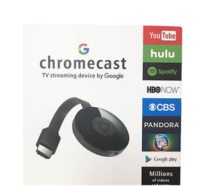 Google Chromecast 2 Digital HDMI Media Video Streamer Black new hot sale aaaa