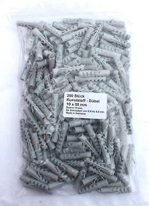 Bouchons en plastique 10x50mm x 200 fabriqué en Allemagne