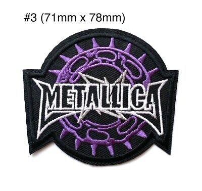 1x Metallica Rock HeavyMetal Band Embroidered Iron On Sew On Patch DIY