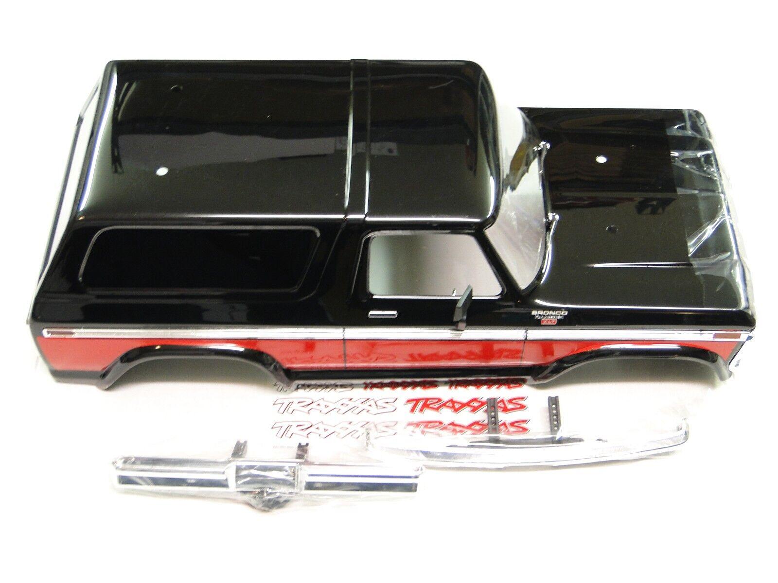 nessun minimo Nuovo TRAXXAS TRX-4    corpo BRONCO FORD RANGER XLT Painted rosso & Chrome Bumpers RV3R  tutti i beni sono speciali