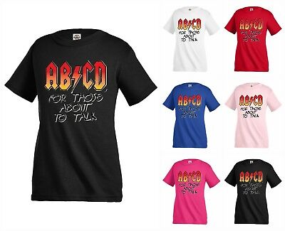 AB CD for those about to talk rock Funny Kids T shirt Youth tee KP310