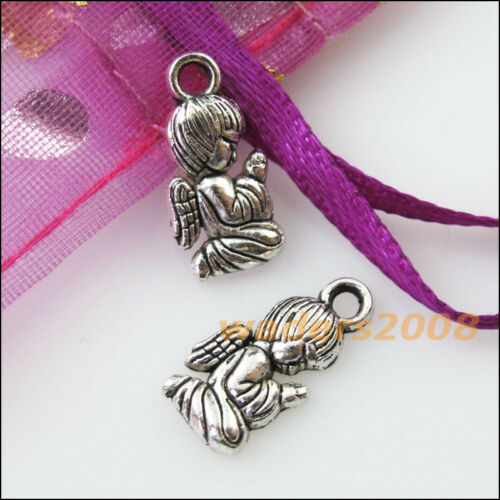 18 New Praying Angel Wings Tibetan Silver Tone Charms Pendants 8x16mm