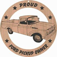 1960's Ford Unibody Pickup Wood Ornament Engraved