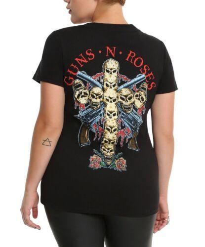 Guns N/' Roses SKULL CROSS Women/'s Girls Plus Size T-Shirt NEW 100/% Authentic