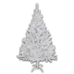 Kuenstlicher-Weihnachtsbaum-Christbaum-Tannenbaum-Tanne-Baum-150cm-weiss-kuenstlich