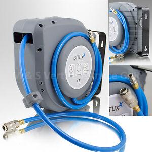 Druckluft-Schlauchtrommel-12m-automatik-Druckluft-Schlauchaufroller-12-Meter-NEU