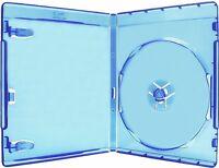 100 Single Standard 12mm Premium Blu-ray Blu Ray Dvd Case Logo [fedex Ground]