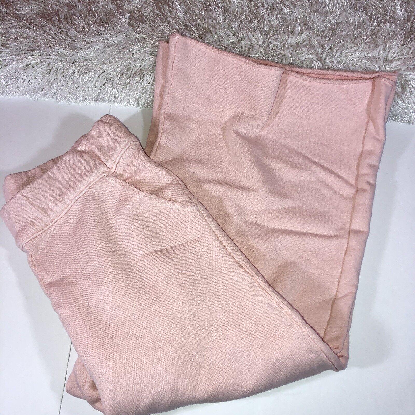 FRANK & EILEEN S Pink TEE LAB Gauchos Crop Capri Pants Knit Fleece  225