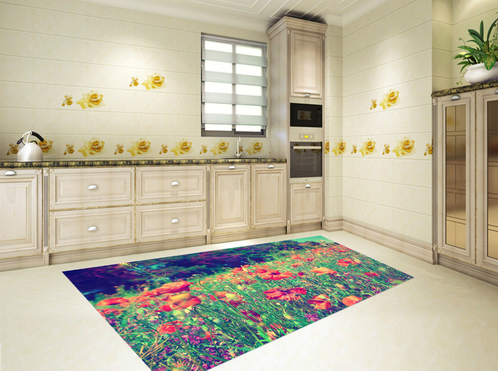 3D Flowers Weeds Kitchen Mat Floor Murals Wall Print Wall Deco AJ WALLPAPER CA