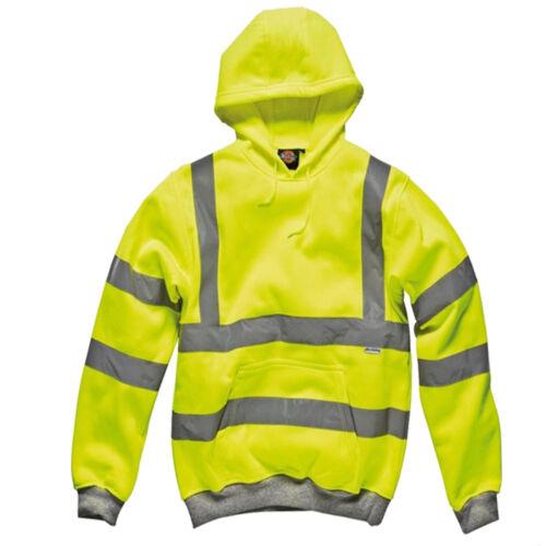 Hi Vis Dickies Hoodie Safety Workwear High Visibility Zipper Jacket Sweatshirt