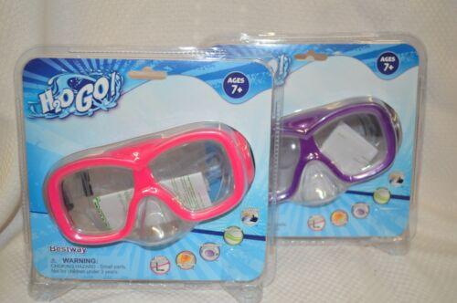 Details about  /U PICK Swim GOGGLES AQUANAUT Mask Pink PURPLE Ages 7 UV Protect ADJUSTABLE New