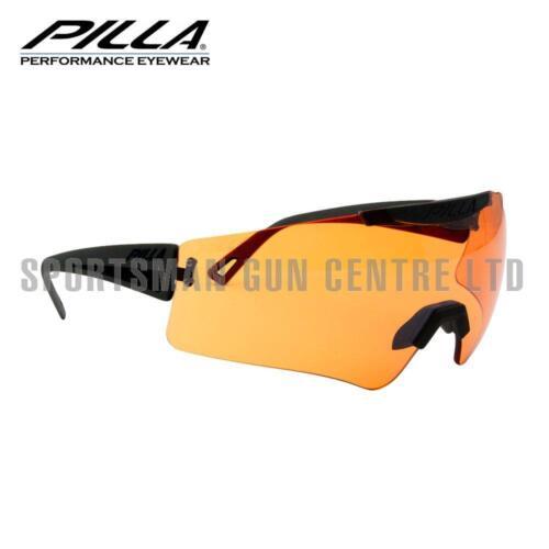 Pilla Vigilante Tir Verres 45MX Orange Lentille Cadre Noir