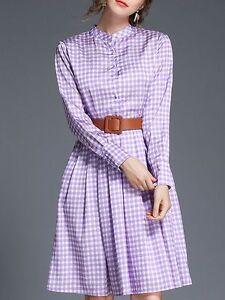 Elegante-raffinato-vestito-abito-lungo-viola-bianco-manica-lunga-slim-3891