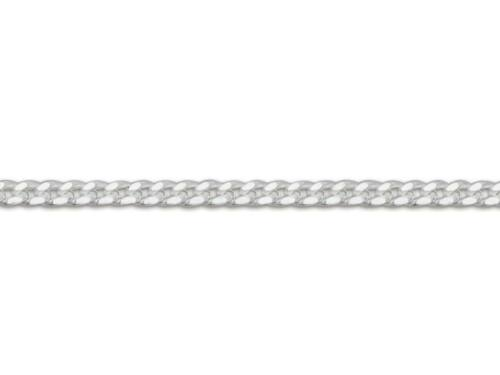 925 Sterling Silver Diamond Cut Curb Chain Necklace 0.9mm // 22 inches // 1.22g
