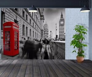 Stylish-B-amp-W-London-Big-Ben-Red-Phone-Box-wallpaper-wall-mural-26507771