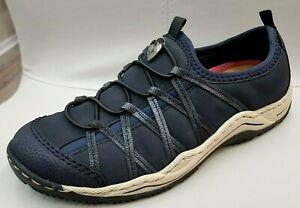 Details zu Rieker Damen Schuhe Halbschuhe Slipper Sneaker Lose Einlage Blau Art.L0559 15