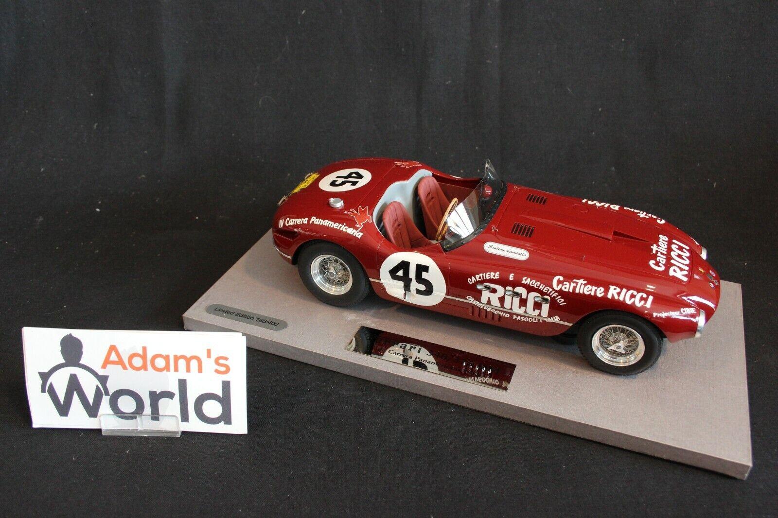el más barato BBR Ferrari 340 Spider Spider Spider Vignale 1953 1 18  45 Ginetti   de Portago (PJBB)  comprar nuevo barato