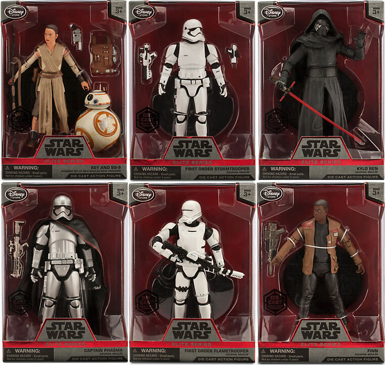Star Wars The Force Awakens Elite Series Die-Cast Action 6  Figure Set of 6