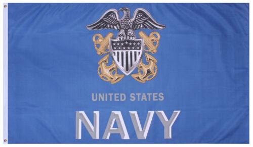 USN US Navy Flag 3' x 5' Anchor Military Flag Rothco 1497