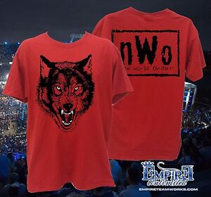 nWo Red Wolfpack New World Order Wolfpac Mens T-shirt WRESTLING SHIRT TEE r1