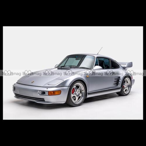 #pha.014050 Photo PORSCHE 911 TURBO S 3.6 FLACHBAU COUPE X83 TYPE 964 1993 Auto