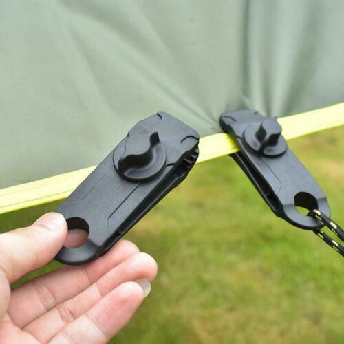 10x Reusable Tent Tarp Tarpaulin Clip Clamp Buckle Camping Tool Heavy Duty Cqiu