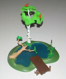 Playmobil-Base-Decor-avec-Arbre-Vegetation-amp-Mare-20-x-22-cm-NEW