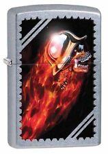 Zippo 29067, Skull/Helmet/Flames, Street Chrome Finish Lighter, Full Size