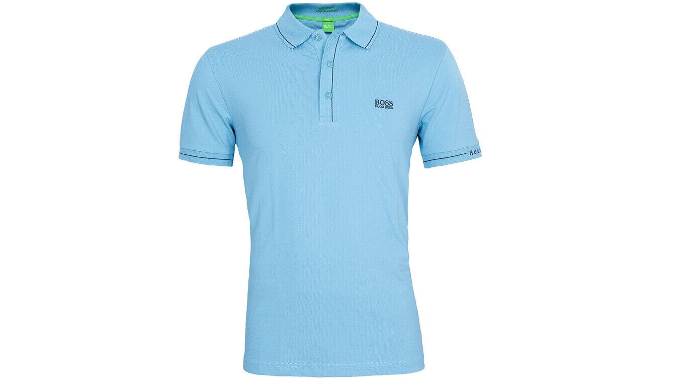Hugo Boss  camiseta polo paule l turquesa algodón poliéster elastano slim verde Label  calidad de primera clase