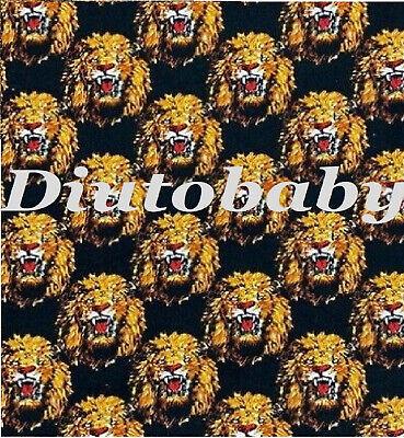 Black Traditional Nigerian Igbo Isi Agu Lion Head Feni Isiagu Fabric.By The Yrd