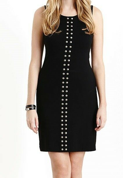 Karen Kane 2L94657 schwarz Sleeveless Studded Stretch Jersey Sheath Dress -