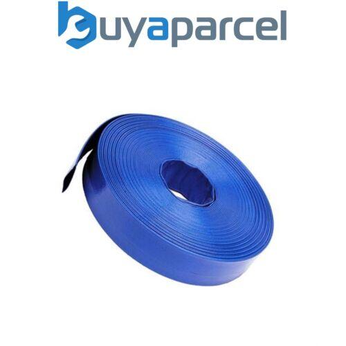Blau Flachlegung Entladung Wasserpumpe Flachschlauch Rohr 10m 32mm