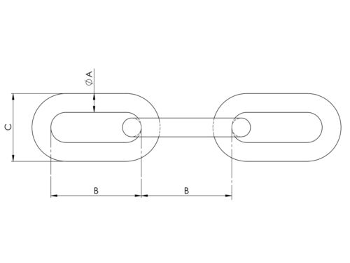 Meter 4//6//8//10mm Stahlkette Zugkette Lastkette Hebekette Forstkette Kette G80 p