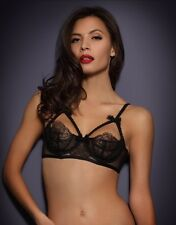 Agent Provocateur ALINA BRA in BLACK SHEER MESH & LACE - Size 36B - BNWT