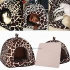 Soft Leopard Pet Dog Cat Bed House Kennel Doggy Puppy Warm Cushion Basket Pad S#