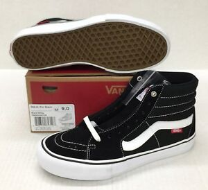7767f67935 Image is loading VANS-SK8-HI-PRO-BLACK-WHITE-VN000VHGY28