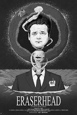 "David Lynch's borrado-Edición Limitada 24"" X 36"" Cartel-Película/cine/Arte"