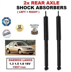 Para-Daewoo-Lanos-1-3-1-5-1-6-16V-1997-on-Amortiguadores-trasero-izquierdo-y-derecho-establecido