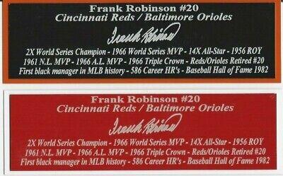 Brooks Robinson Autograph Nameplate Baltimore Orioles Auto Jersey Ball Photo