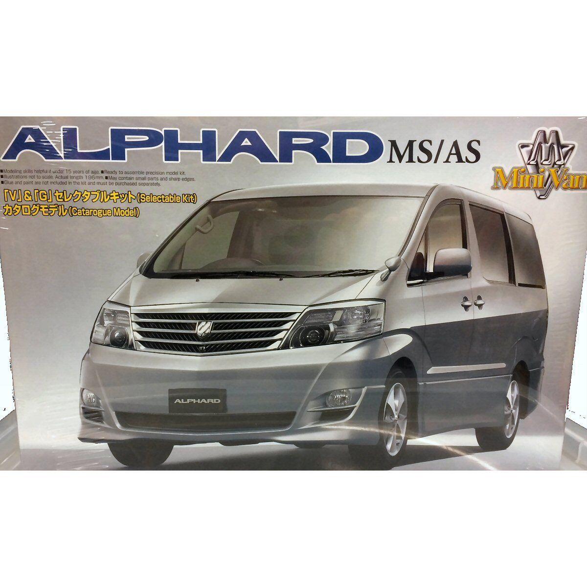 Aoshima 037898 Alphard MS AS Minivan 1 24 scale plastic model kit
