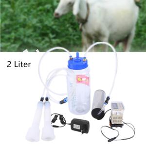2L Elektrisch Melkmaschine Milker Melkeimer Vakuumpumpe Melken Kühe Ziegen